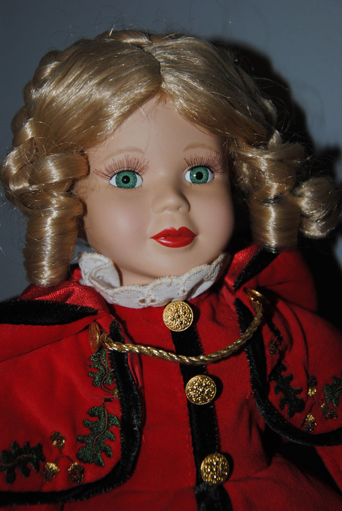 "16"" Brass Key Collectible Doll"