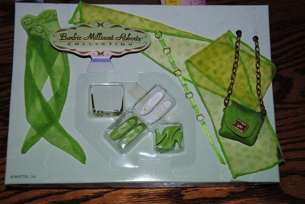 Lime Green Barbie Accessories from the Millicent Roberts Collection