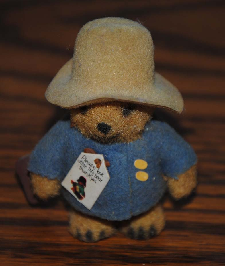 "Miniature 2 1/2"" Paddington Flocked Bear"
